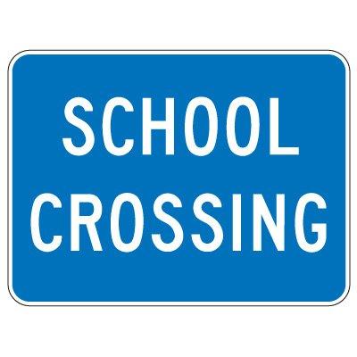 Regulatory School Zone Signs - School Crossing