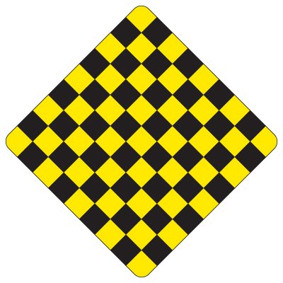 Regulatory Checkerboard Warning Signs