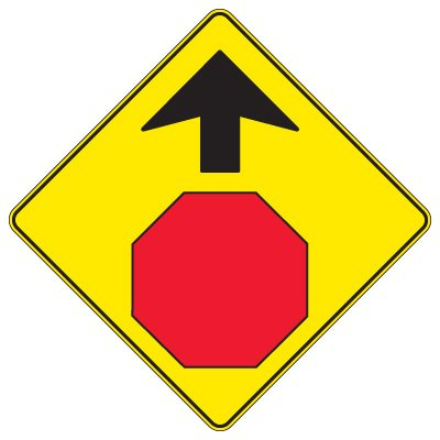 Regulatory Warning Signs – Stop Sign Ahead