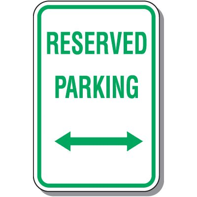 Reserved Parking Signs - Reserved Parking (Double Arrow)