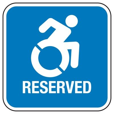 Reserved - State Handicap Signs