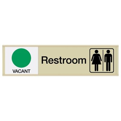 Restroom Vacant/Occupied - Engraved Restroom Sliders