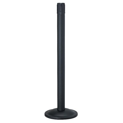 Beltrac® Contempo Retractable Belt Stanchion - Black Receiver Post 26-40732WB/EM