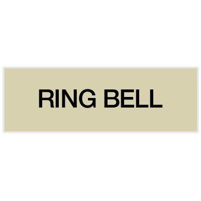 Ring Bell - Engraved Standard Worded Signs