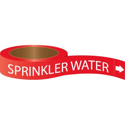 Roll Form Self-Adhesive Pipe Markers - Sprinkler Water