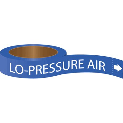 Roll Form Self-Adhesive Pipe Markers - Lo-Pressure Air