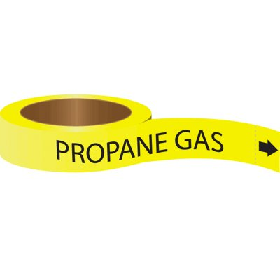 Roll Form Self-Adhesive Pipe Markers - Propane Gas