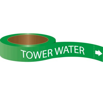 Roll Form Self-Adhesive Pipe Markers - Tower Water