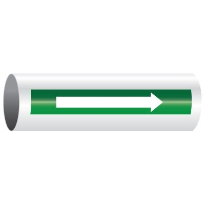 Roll Form Self-Adhesive Pipe Markers - Arrows Only