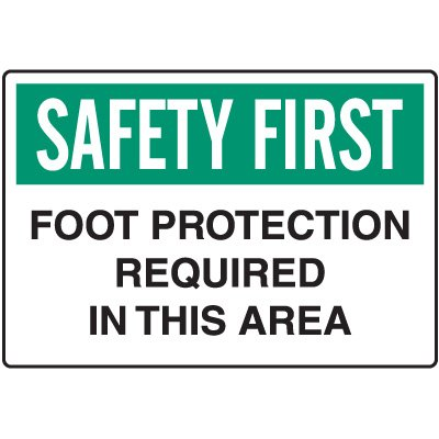 Workplace Safety Signs - Foot Protection Required