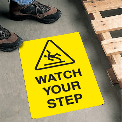 Safety Floor Signs- Watch Your Step (With Graphic)