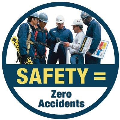 Safety Hard Hat Decals - Safety Zero Accidents