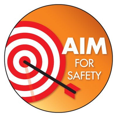 Safety Hard Hat Labels - Aim For Safety