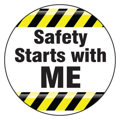 Safety Hard Hat Labels - Safety Starts With Me