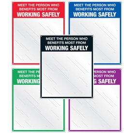 Safety Slogan Mirrors - Person Who Benefits Most From Working Safely