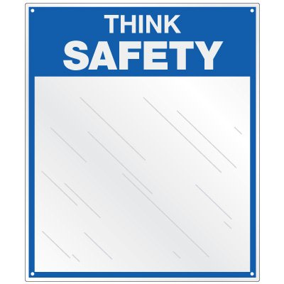 Safety Slogan Mirrors - Think Safety
