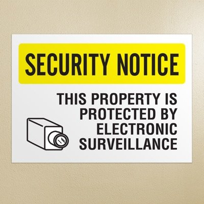 Security Camera Signs - Electronic Surveillance