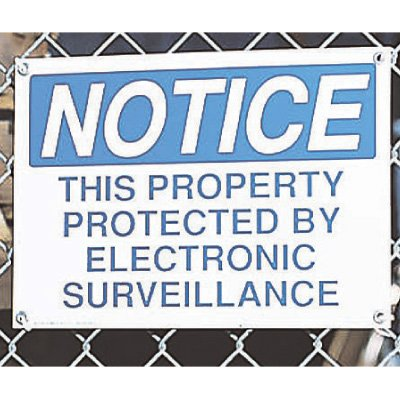 Security Camera Signs - This Property Protected By Electronic Surveillance
