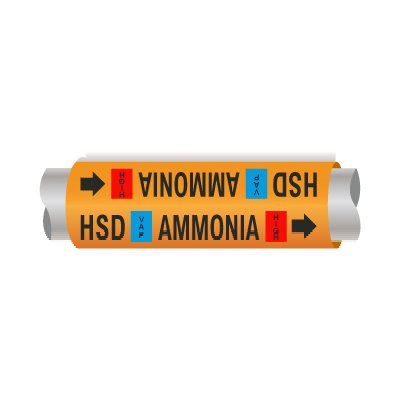 Setmark® Ammonia Pipe Markers - High Stage Discharge