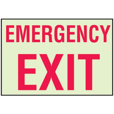 Luminous Path Marker Signs - Emergency Exit