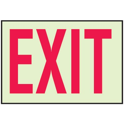 Luminous Path Marker Signs - Exit