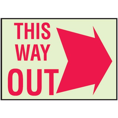 Luminous Path Marker Signs - This Way Out
