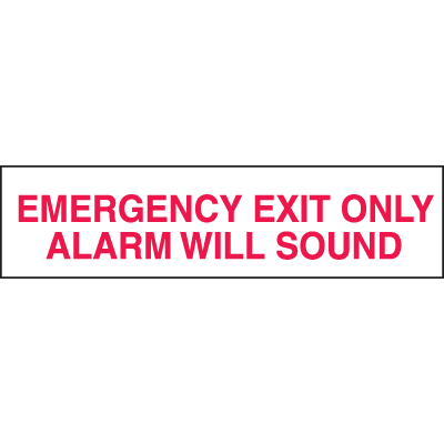 Setonsign® Value Packs - Emergency Exit Only Alarm Will Sound