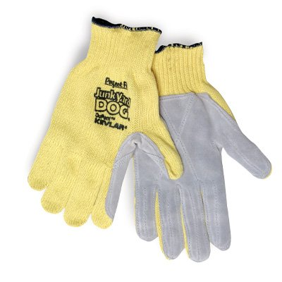 Sperian Junk Yard Dog® Leather Kevlar Gloves KV18A10050E