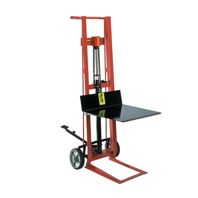 Steel Frame Two-Wheeled Hydraulic Pedalift with Platform