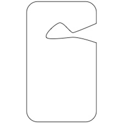 Blank Rearview Mirror Stock Tags