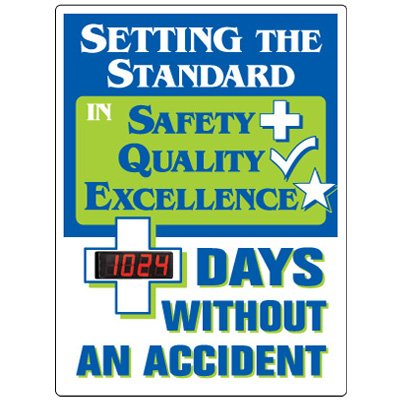 Stock Scoreboards - Days Without Accident