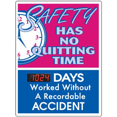 Stock Scoreboards - No Quitting No Recordable Accident