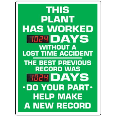 Stock Scoreboards - Plant Without Lost Time Accident