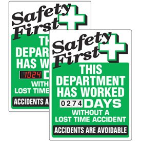 Stock Scoreboards - Safety First Department