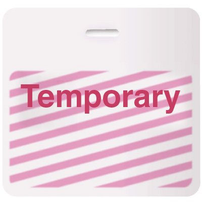 Stock TIMEbadge® - Temporary CARDbadge®
