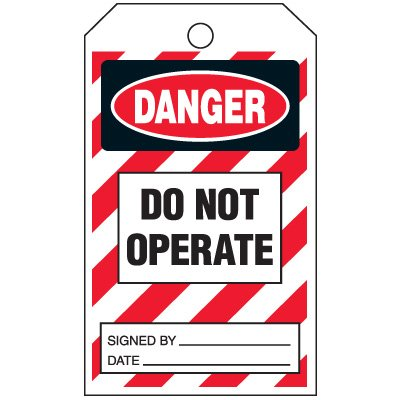 Inspection Tags-On-A-Roll - Danger Do Not Operate