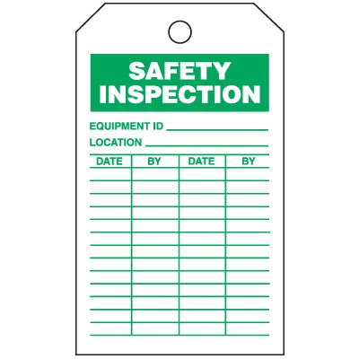 Inspection Tags-On-A-Roll - Safety Inspection