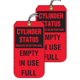 Tear-Off Jumbo Cylinder Status Tags