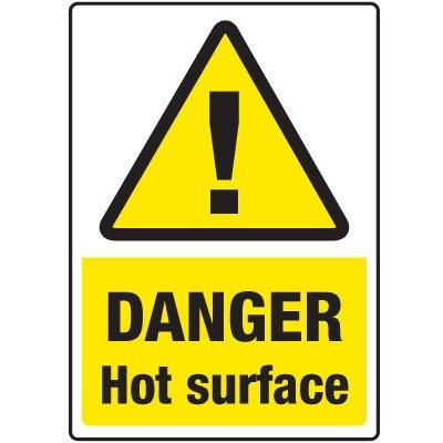 Temperature Warning Signs - Danger Hot Surface