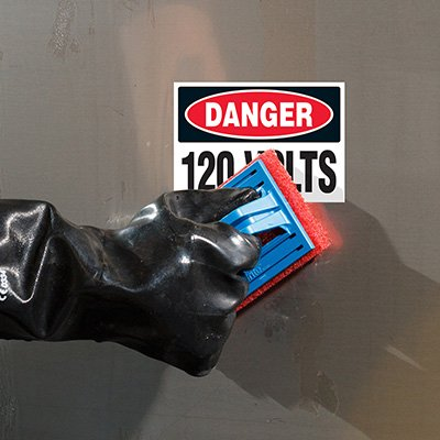 ToughWash® Labels - Danger 120 Volts