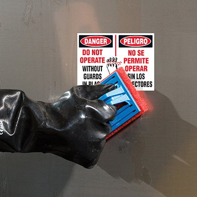 ToughWash® Labels - Danger Do Not Operate (Bilingual)