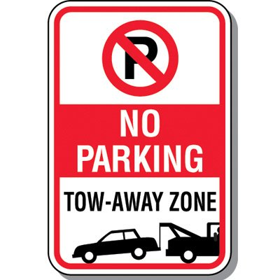 Tow Away Zone Signs - Tow-Away No Parking (With Graphic)