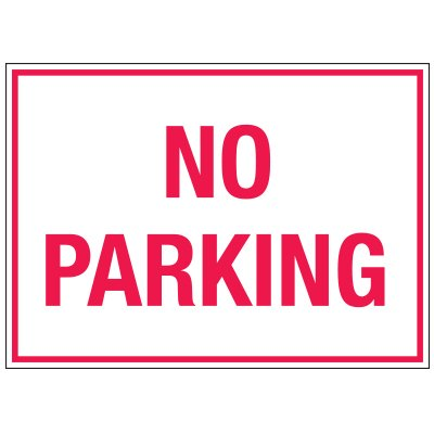Traffic Cone Sign - No Parking