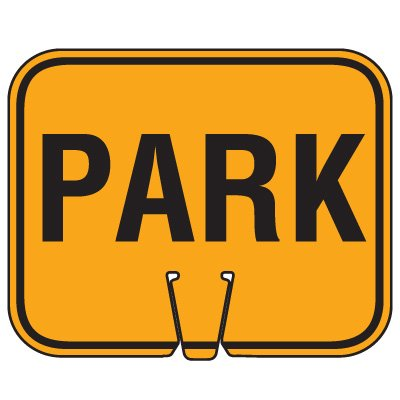 Traffic Cone Signs - Park