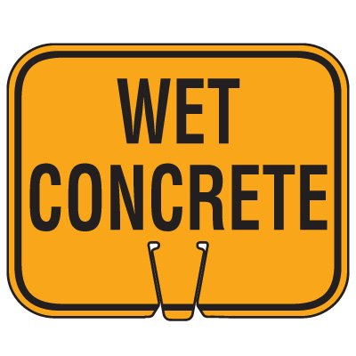 Traffic Cone Signs - Wet Concrete