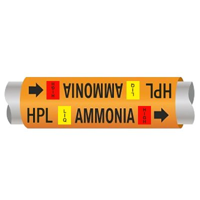 Setmark® Ammonia Pipe Markers - High Pressure Liquid