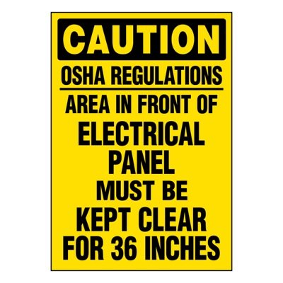 Ultra-Stick Signs - Caution OSHA Regulations