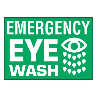 Ultra-Stick Signs - Emergency Eye Wash