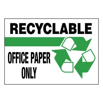 Ultra-Stick Signs - Recyclable Office Paper Only