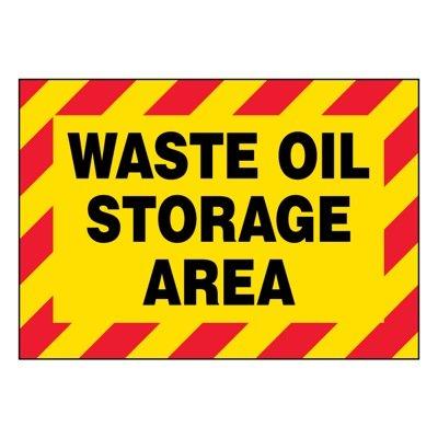 Ultra-Stick Signs - Waste Oil Storage